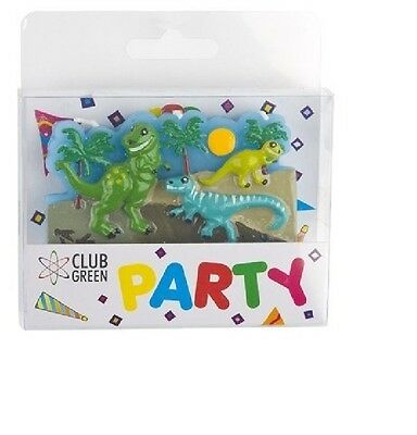 DINOSAURS  Party Candle CAKE DECORATION  Birthday Cake Topper Figure