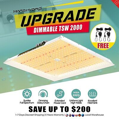 Mars 300W LED Grow Light Panel Full Spectrum Hydro Veg Flower Indoor Plant Lamp