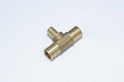 """3/4"""" x 3/4"""" x 1/2"""" REDUCING BRASS PEX TEES LEAD FREE FITTINGS LOT OF 10 PIECES"""