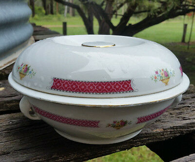 Large Chinese Serving Bowl with Lid Made in China