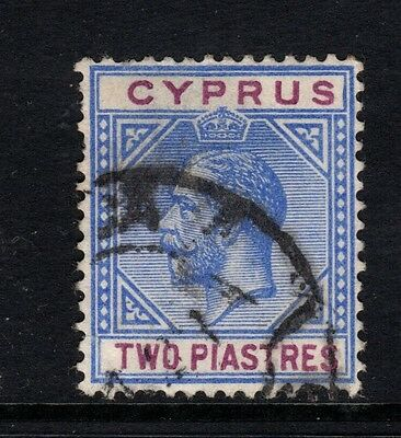 Cyprus 1912-15 SG#78, 2pi Blue And Purple KGV - good used