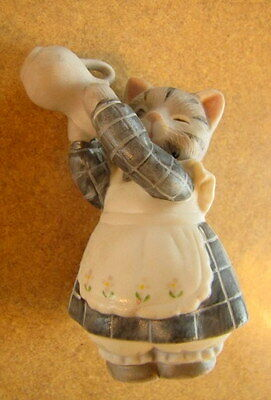 Vintage Kitty Cucumber Figurine and the Milk or Cream Pitcher by Schmid