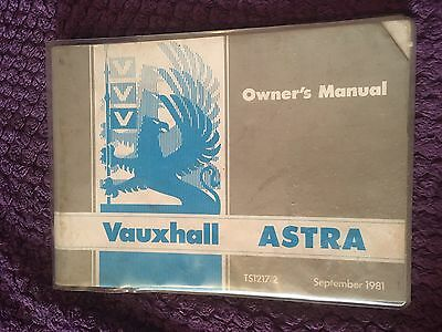 Vauxhall Astra Owners Manual September 1981