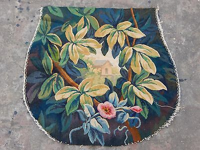 Antique French Hand Woven Beautiful Aubusson Tapestry 55x52cm (A1077)