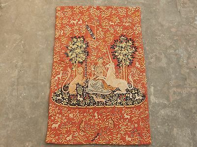 Vintage French Beautiful The Lady with Unicorn Tapestry 92x57cm (A1068)