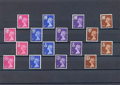 New regional definitives 1971 MNH Scot Wales NI Man totally 16stamps