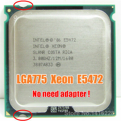 Intel Xeon E5472 for LGA 775 no need adapter 12M Cache, 4x3.00 GHz, 1600 MHz FSB