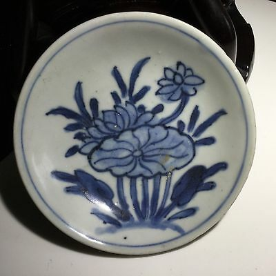 Chinese Antique 17/18th Porcelain Blue White Plate Shipwreck