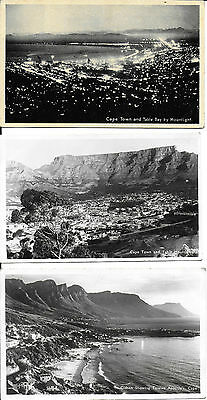 RP Cards 3 CARDS WITH VIEWS OF CAPE TOWN c1940 – Unposted