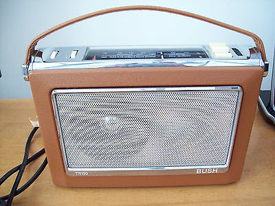 Retro Vintage Style Bush Tr130  ' Antique ' Radio Battery Or Electric Use