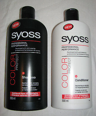 LOT Syoss Color Protect Shampoo après-shampoing conditionner cheveux *100% NEUF
