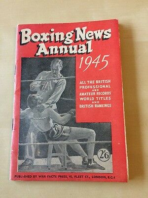 Boxing News Annual 1945 (All The British Records, Titles And Rankings)
