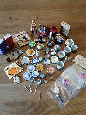 Miniature Dolls House Items - Various - Good Condition