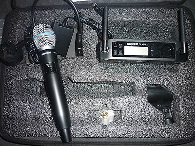 Shure beta 87a wireless microphone and GLXD4 receiver