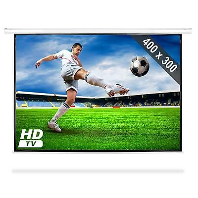"200"" Electric Motorised Home Cinema Video Projection Screen Hd Tv Television Lcd"