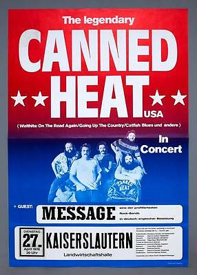 CANNED HEAT Message - rare original Germany 1976 concert poster