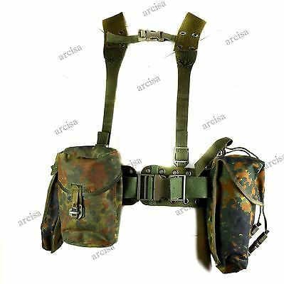 Original German army Webbing rig system 5 pieces tactical belt suspenders pouch