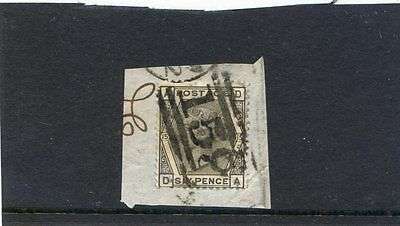 Queen Victoria 1870th 6 Pence on envelope piece
