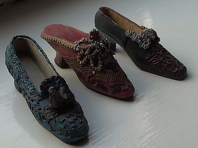 3 Miniature Ladies Shoes