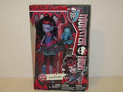 Monster High Jane Boolittle Doll 2013 New Condition!!