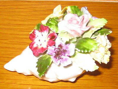 Adderley Bone China Flowers in a Shell