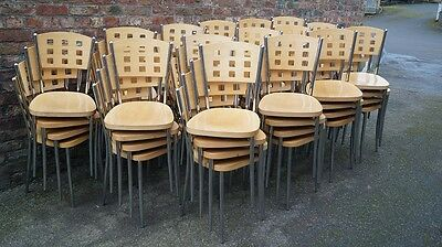 60 x Cafe, Bistro, Restaurant Stacking Dining Chairs