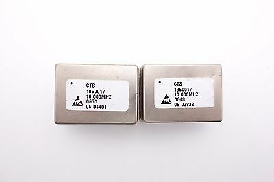 2 x CTS 1960017 OCXO 10Mhz Oven Controlled Crystal Oscillators