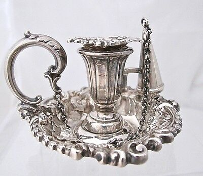 Gorgeous William IV small silver chamberstick, Wilkinson & Co Sheffield 1834