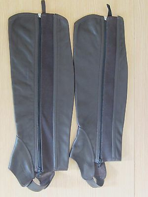 FOUGANZA Horse Riding Adult Half Chaps Leather Brown