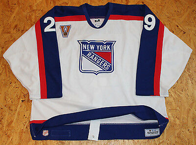 "NHL New York Rangers Vintage ""V"" 2003/2004 Game Issued Jersey #29 Boris Mironov"