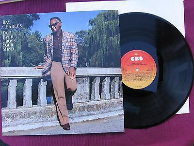 """Ray Charles   """" Do I Ever Cross Your Mind  """"    12"""" Vinyl L.P.  Issued 1984"""