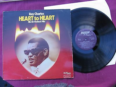 """Ray Charles   """" Heart To Heart """"    12"""" Vinyl L.P.  Issued 1980"""