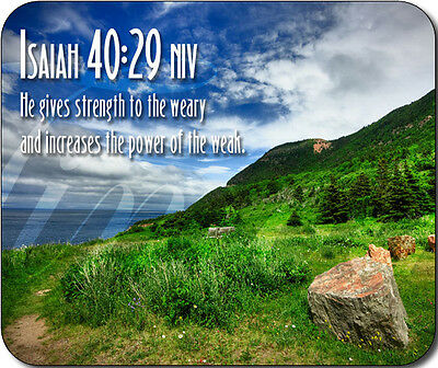 Isaiah 40:29 Bible Verse Large Mousepad Mouse Pad Great Gift Idea
