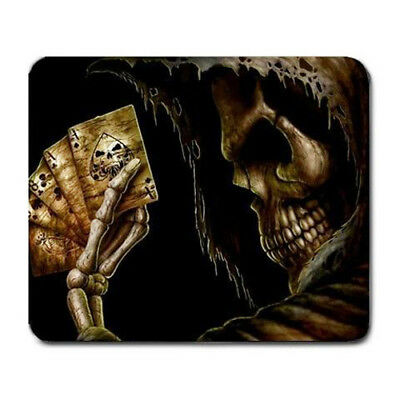 Skeleton playing poker Large Mousepad Mouse Pad Great Gift Idea