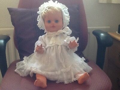 vintage doll  late 1970's, open and close eyes, rooted hair