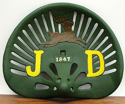 Reproduction, Collectible Cast Iron John Deere 1847 Tractor Seat