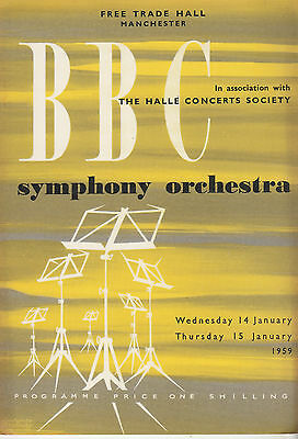 The Bbc Symphony Orchestra In Association With Halle Concerts Society '59 Prog