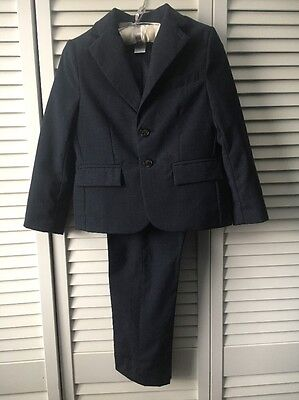 Janie and Jack Boys Special Occasion Navy Two Piece Suit Sz 5 EUC