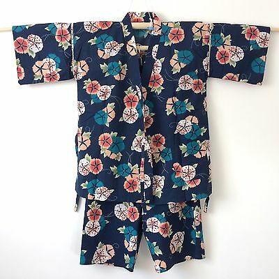 Authentic Japanese jinbei for women, traditional summer wear, used (F1052)