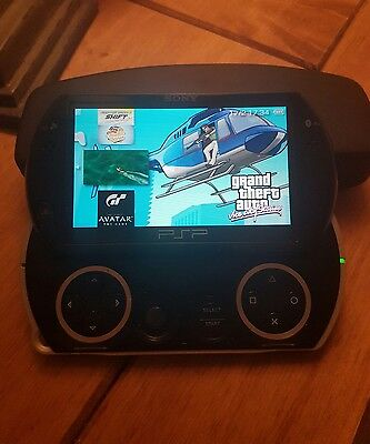 sony psp go black with games & 14GB memory card