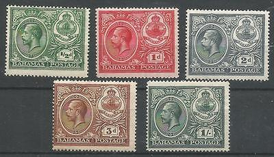 BAHAMAS 1920  KGV  MLH  SG106-115 Complete Set of 5   Cat.$32 //£24.25