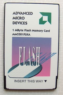 AMD  1 MBytes flash memory AmC001FLKA   PC CARD pcmcia  Memioire Flash  f-eeprom