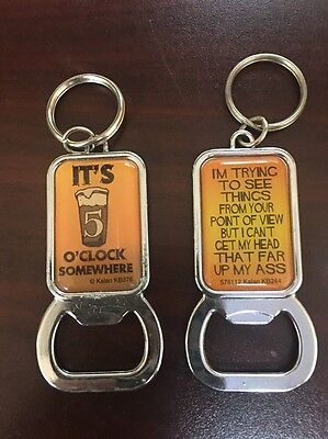 Lot Of 2 Bottle Opener Keychains