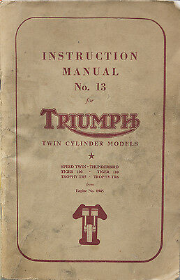 Triumph motorcycle Instruction manual