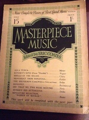 Masterpiece Music Part 15 Nine Complete Pieces Of Sheet Music