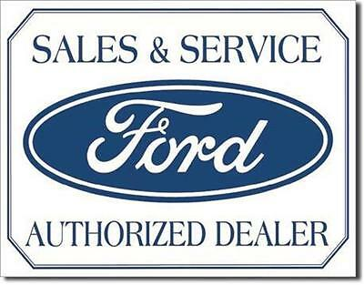 Ford Sales And Service Authorized Dealer  Metal Tin Sign