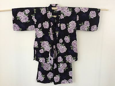 Authentic Japanese jinbei for women, traditional summer wear, used, S (F1053)