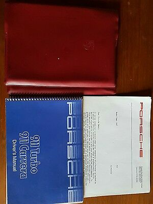 Porsche 911 Turbo and 911 Carrera 1987 Drivers Manual & Oem plastic folder.