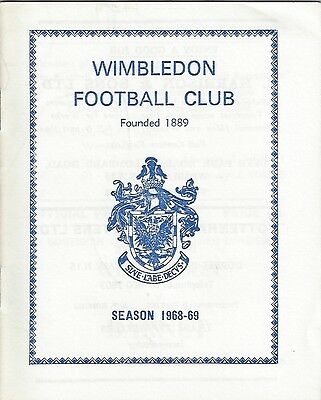 Wimbledon v Hillingdon Borough - 1968/9