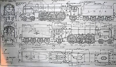 Isinglass 7Mm Drawing Thompson Lner A2/1 Pacific